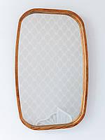 Прямоугольное зеркало в прихожую в деревянной раме 50*80см Luxury Wood Ясен