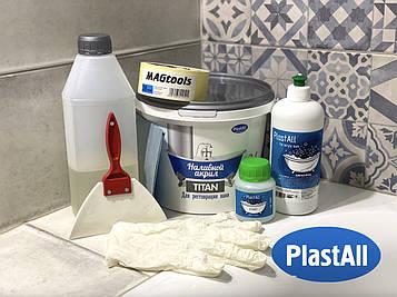 Жидкий акрил наливной Plastall Titan 1.5 м с набором для реставрации ванн Оригинал (AS)