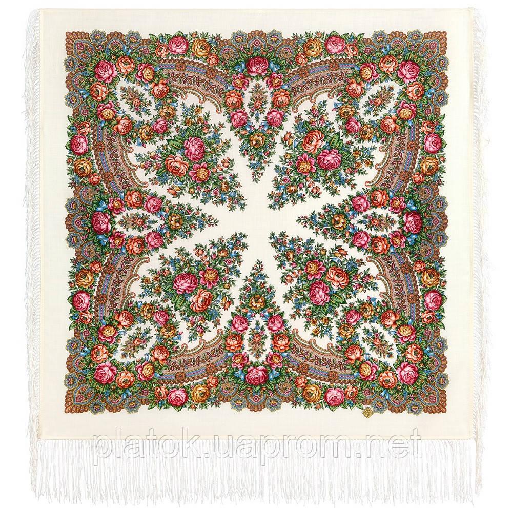 Ранкові мрії 1960-1, павлопосадский вовняну хустку з шовковою бахромою