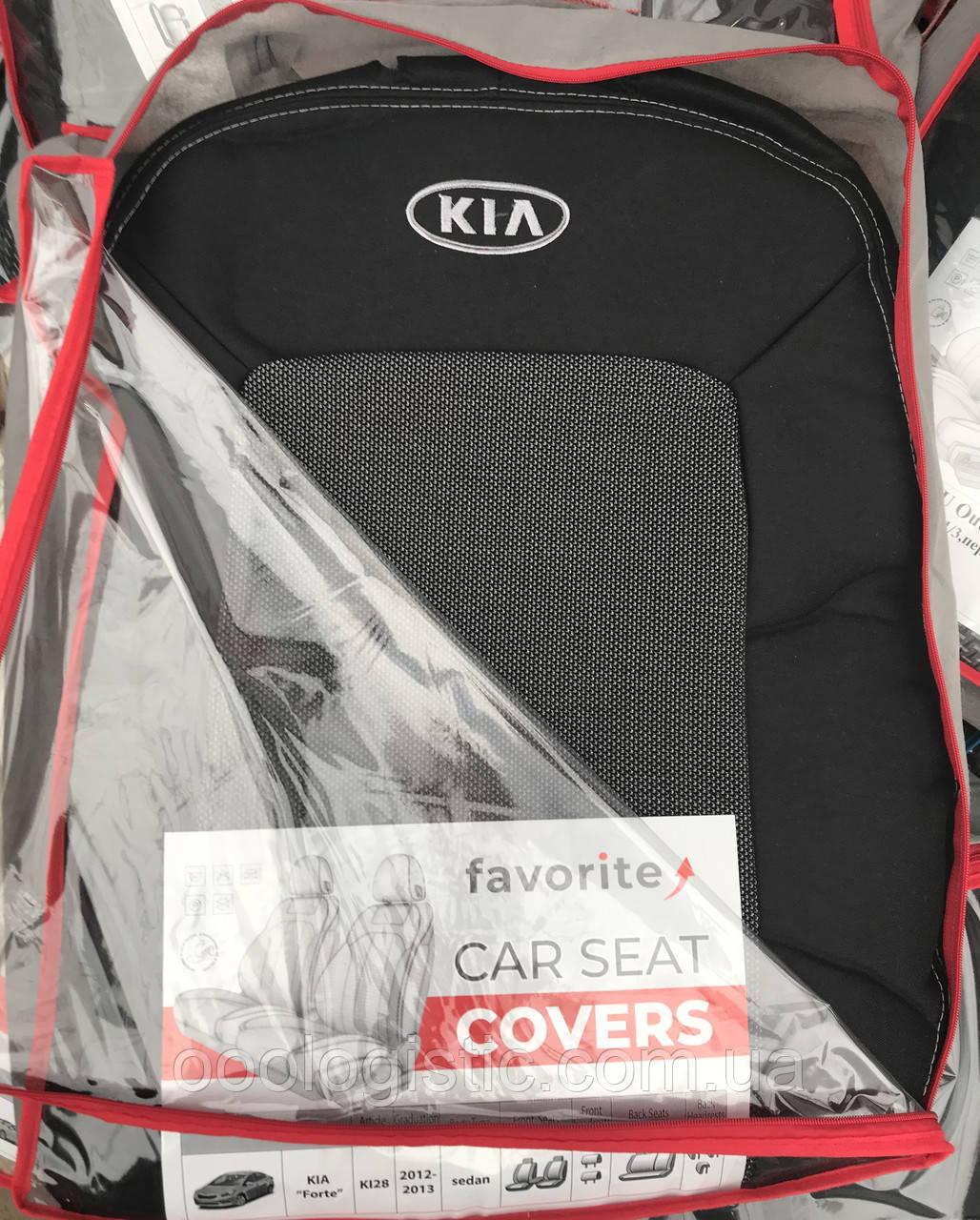 Авточехлы на Kia Forte 2012-2013 года седан Favorite Киа Форте
