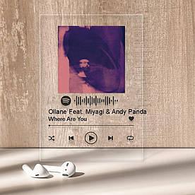 """Музыкальный постер Трекпластинка """"Ollane Feat. Miyagi & Andy Panda — Where Are You"""" с черной надписью"""