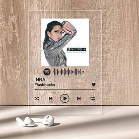 """Музыкальный постер Трекпластинка """"INNA — Flashbacks"""" с черной надписью"""