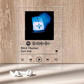 """Музыкальный постер Трекпластинка """"Blind Channel — Dark Side"""" с черной надписью"""
