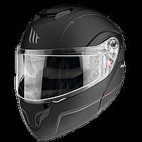 MT Atom SV Solid Matt Black, S Мотошлем модуляр с очками