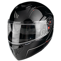MT Atom SV Solid Gloss Black, S Мотошлем модуляр с очками