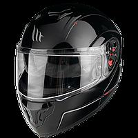 MT Atom SV Solid Gloss Black, XL Мотошлем модуляр с очками