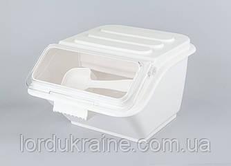Контейнер для сипучих інгредієнтів штабельована, білий 8 л.