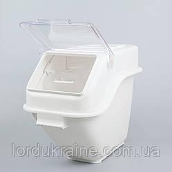 Контейнер для сипучих інгредієнтів штабельована, білий 20 л.