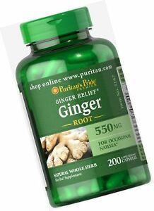 Витамины и минералы Puritans Pride Ginger Root Standardized Extract 120 мг 200 капс Оригинал! (342231)