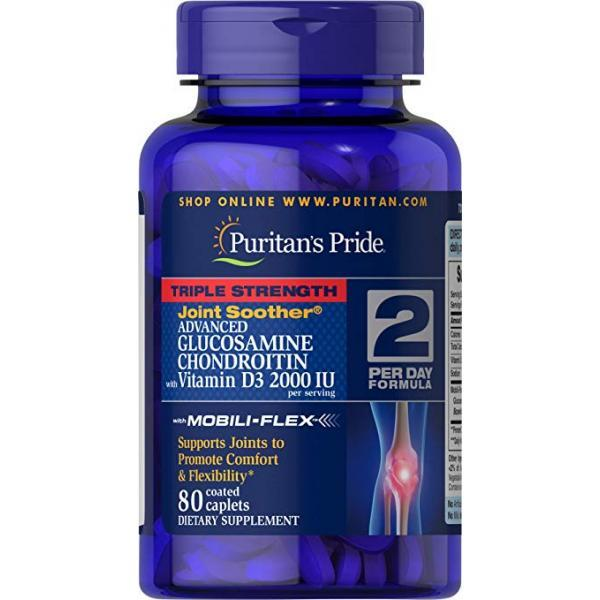 Препараты для восстановления суставов и связок Puritans Pride Glucosamine Chondroitin Triple Strength with