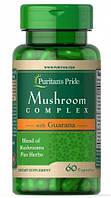 Вітаміни і мінерали Puritans Pride Mushroom Herbal Complex with Guarana 60 таб Оригінал! (342250)