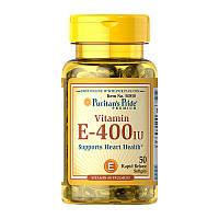 Витамины и минералы Puritans Pride Vitamin E-400IU 100% Natural 50 гель.капс Оригинал! (342274)