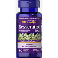 Витамины и минералы Puritans Pride Resveratrol 50 мг 60 гель.капс Оригинал! (341579)