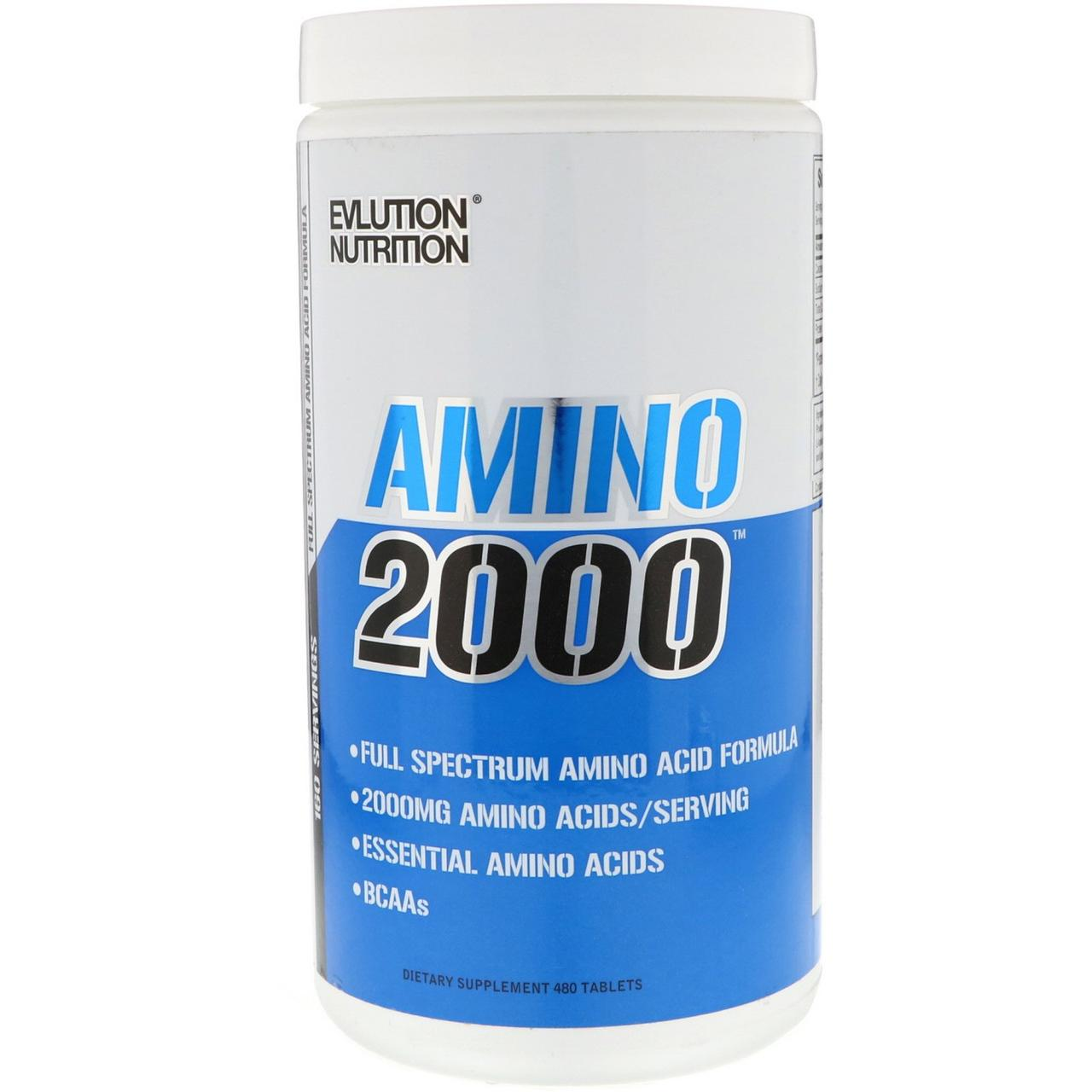 Амінокислоти Evlution Nutrition Amino 2000 480 таб Оригінал! (343302)