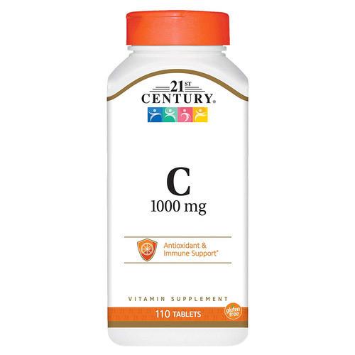 Вітаміни і мінерали 21st Century Vitamin C (1000 мг) 110 таб Оригінал! (343391)