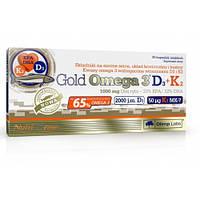 Риб'ячий жир Olimp Labs Gold Omega 3 65% D3+K2 30 капс Оригінал! (344293)