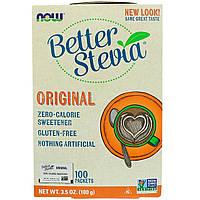 Замінник харчування Now Foods Stevia Extract Packets (Original) 100 пакетів Оригінал! (343492)
