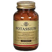 Вітаміни і мінерали Solgar Potassium 100 таб Оригінал! (344423)