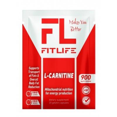 L - Карнітин FitLife L-Carnitine 20 капс Оригінал! (341898)