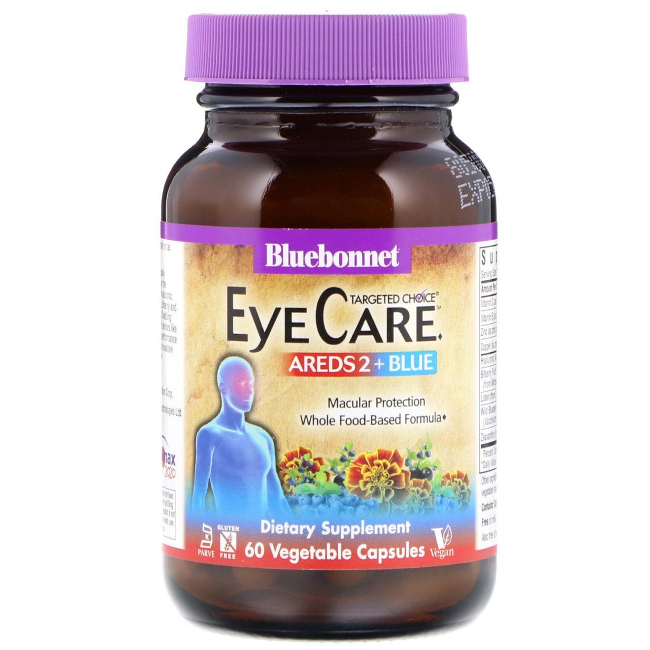 Комплекс для Глаз Bluebonnet Nutrition EyeCare Targeted Choice 60 растительных капсул Оригинал! (342897)