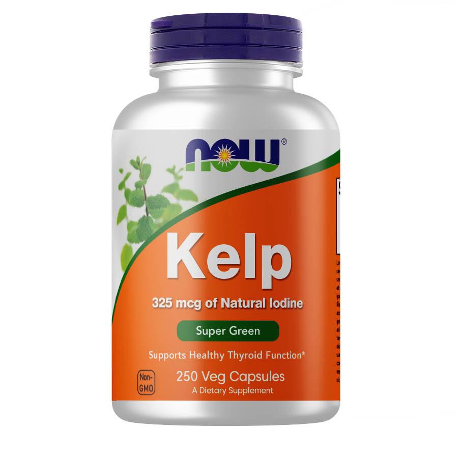 Витамины и минералы Now Foods Kelp 325 мкг 250 веган кап Оригинал! (343752)