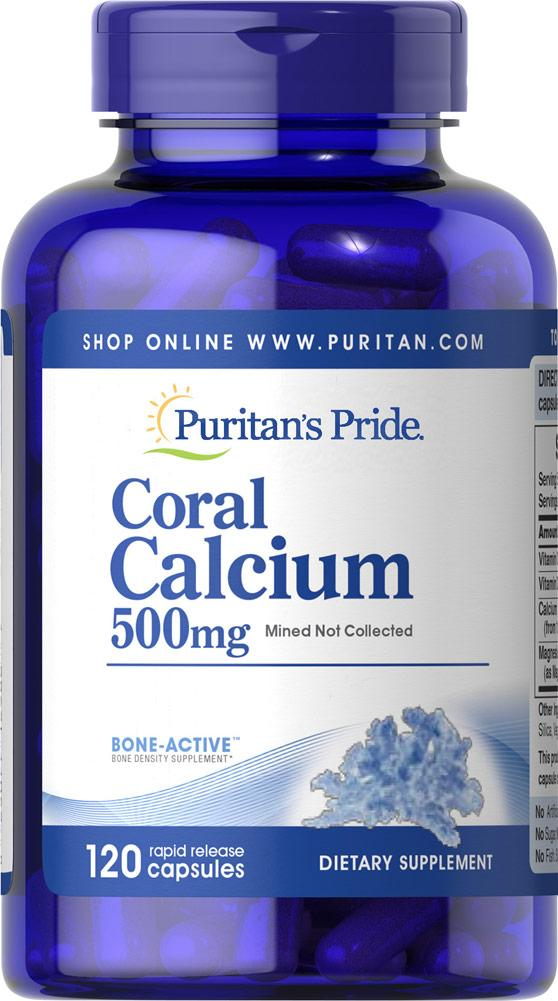 Кальций Puritans Pride Coral Calcium Complex 120 капс Оригинал! (343829)