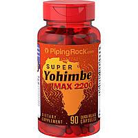 Вітаміни і мінерали Piping Rock Super Yohimbe Max 2200 90 капс Оригінал! (342179)