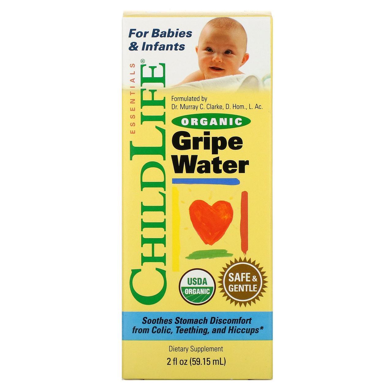 Детская Водичка от Коликов ChildLife Organic Gripe Water 5915 мл Оригинал! (343148)
