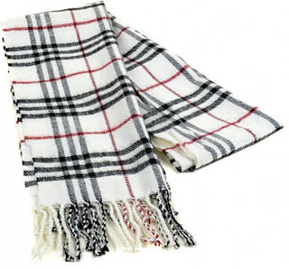 Мужской шарф 190 на 31 см 5014-7 белый