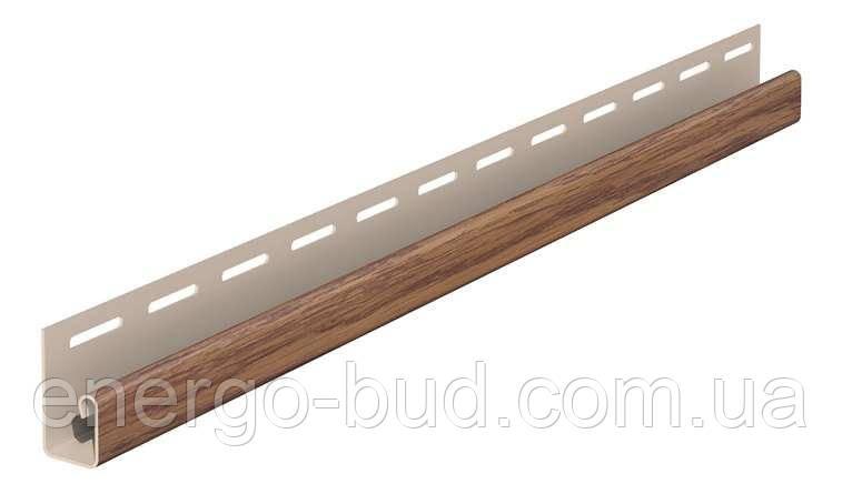 """Планка FaSiding WoodHouse """"J-trim"""" """"Дуб золотий"""" SVP-15, 3.05м"""