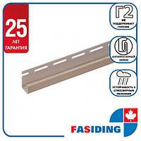 """Планка FaSiding """"J-trim"""" """"Грецький горіх"""" Т-15. 3.66м"""