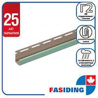 """Планка FaSiding """"J-trim"""" """"Папороть"""" Т-15. 3.66м"""