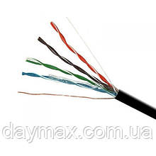 ElectroHouse Кабель UTP 4х2х0, 51 CCA чорний (зовнішній монтаж, із сталевим дротом)