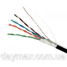 ElectroHouse Кабель FTP 4х2х0, 51 CCA чорний (зовнішній монтаж, із сталевим дротом)