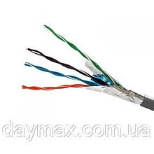 ElectroHouse Кабель FTP 4х2х0, 51 Cu сірий (внутр. монтаж)