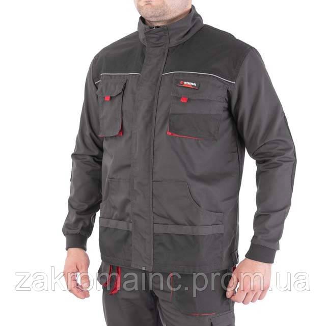 Куртка рабочая 80 % полиэстер, 20 % хлопок, плотность 260 г/м2, L INTERTOOL SP-3003