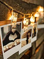 """Світлодіодна гірлянда у вигляді прищіпок на батарейках """"Затишні моменти Хеллоуїна"""", фото 1"""
