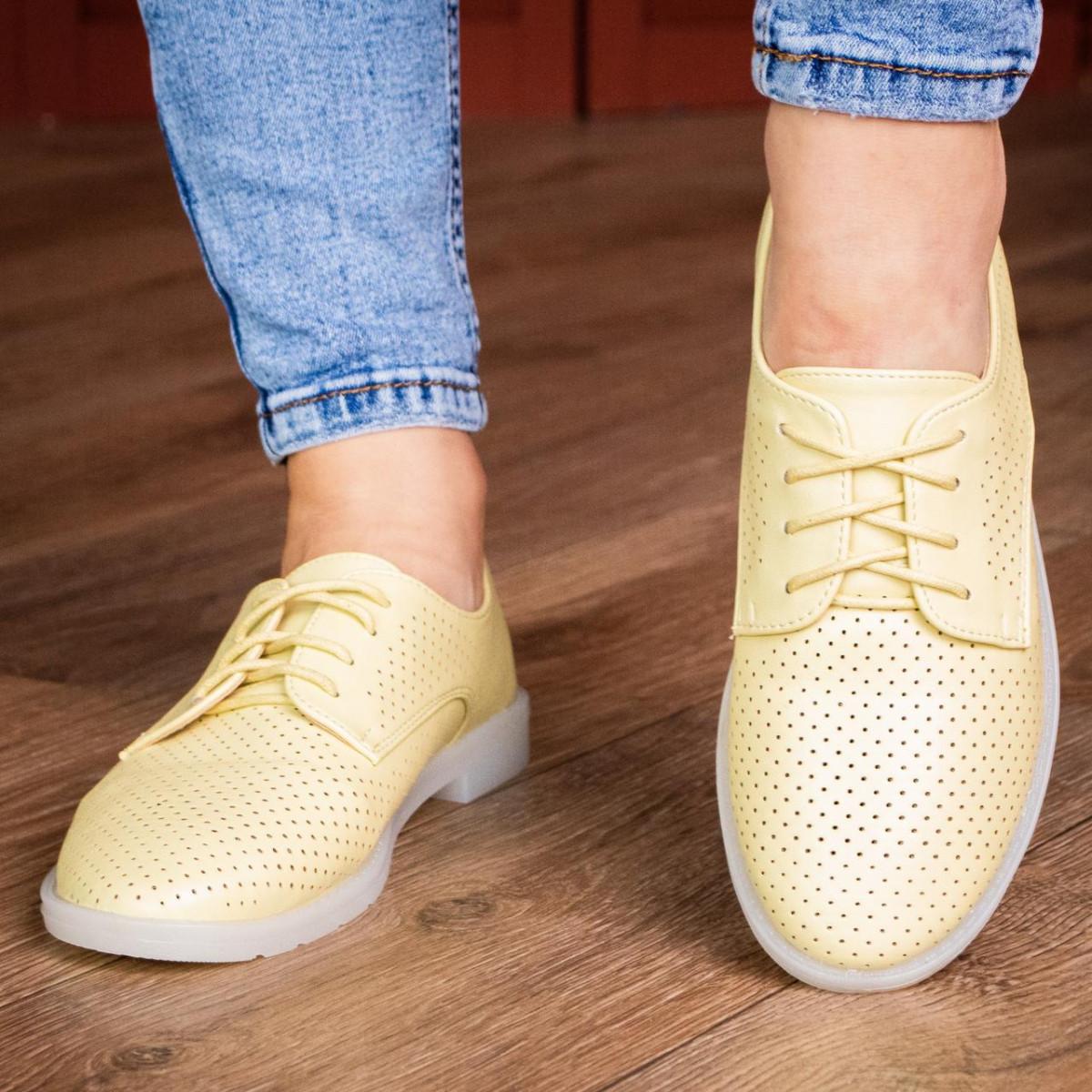 Жіночі туфлі Fashion Lippy 1772 36 розмір 23 см Жовтий