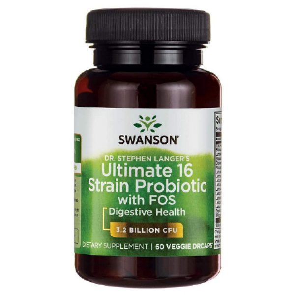 Swanson Ultimate 16 Strain Probiotic - 60 veg drcaps (До 10.21)
