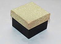 Коробка подарочная Черная-золотая 4.5x4.5x3.5 см, фото 1