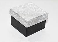 Коробка подарочная Черная-серебряная 4.5x4.5x3.5 см