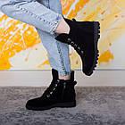 Ботинки женские Fashion Daaku 2647 40 размер 25,5 см Черный, фото 2