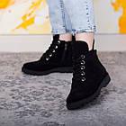 Ботинки женские Fashion Daaku 2647 40 размер 25,5 см Черный, фото 4