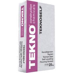 Teknoself — це однокомпонентний самовирівнюється розчин для наливних підлог з полімерними волокнами