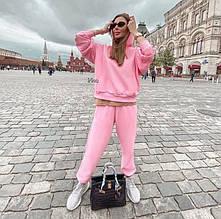 Женский спортивный костюм, турецкая двунить, р-р С-М; М-Л (розовый)