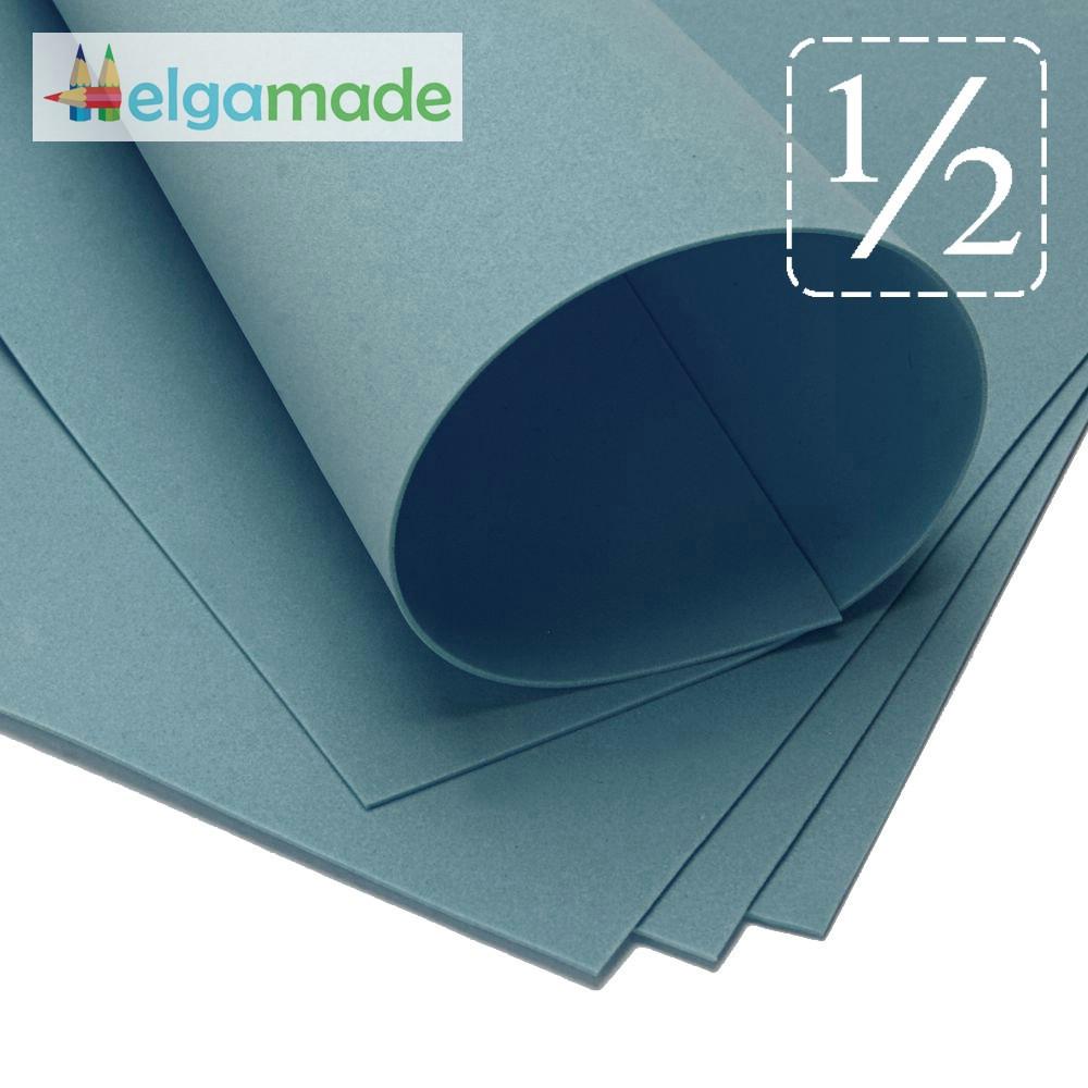 Фоамиран ТЕМНО-СЛАНЦЕВЫЙ, 1/2 листа, 30x70 см, 0.8-1.2 мм, Иран