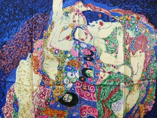 Элегантный женский шелковый платок размером 86*86 см ETERNO (ЭТЕРНО) ES2038-1