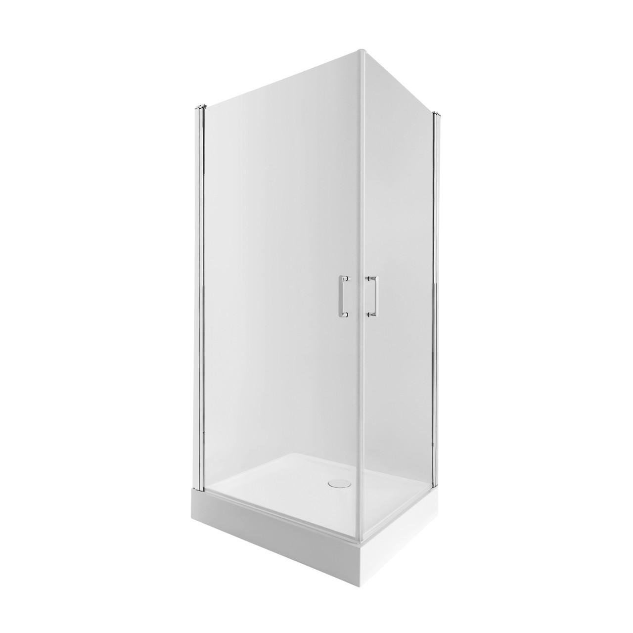 Набір Qtap душова кабіна Gemini CRM1018RC6 Clear + піддон Unirect 301815