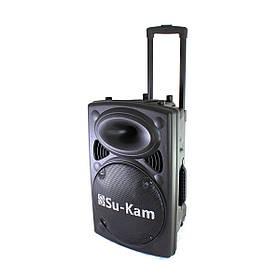 Портативная колонка Su-Kam BT 120D + 2 беспроводных микрофона (12v 220v)