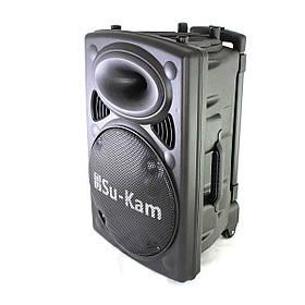 Портативная колонка Su-Kam BT 150D + 2 беспроводных микрофона + BT (12v 220v)